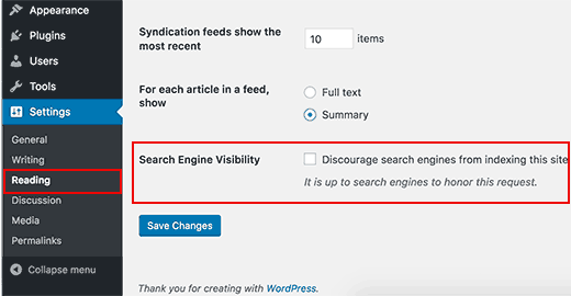 WP-Settings-search-engine-tick-box